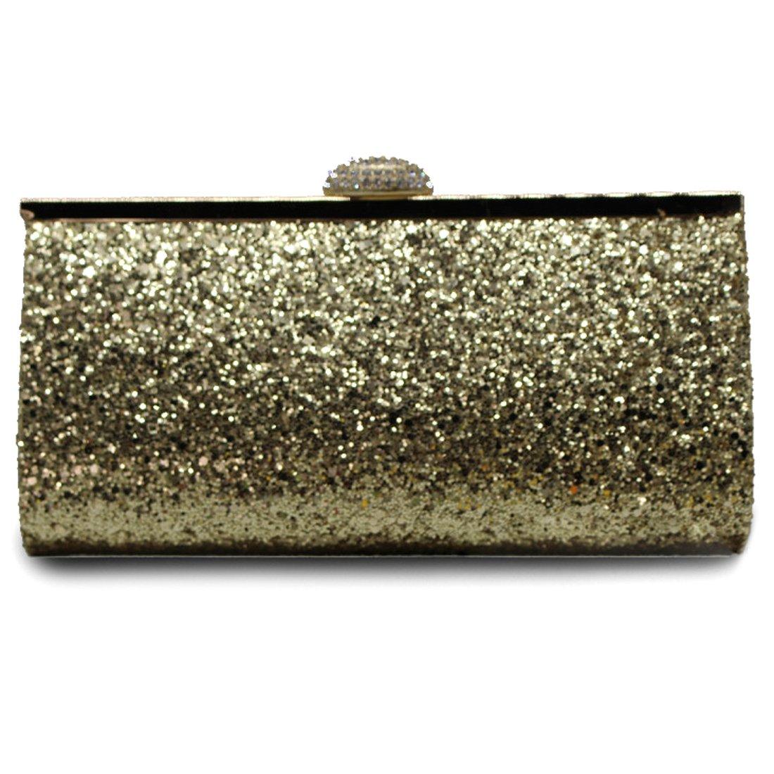 UNYU Evening Bag, Damen Clutch UNYU Evening Bag gold