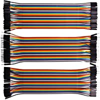 VIPMOON 120pcs Multicolored Dupont Wire 40pin Male to Female, 40pin Male to Male, 40pin Female to Female Breadboard…