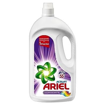 Detergente líquido Ariel para ropa de color. 55 lavados. Pack de 3 ...