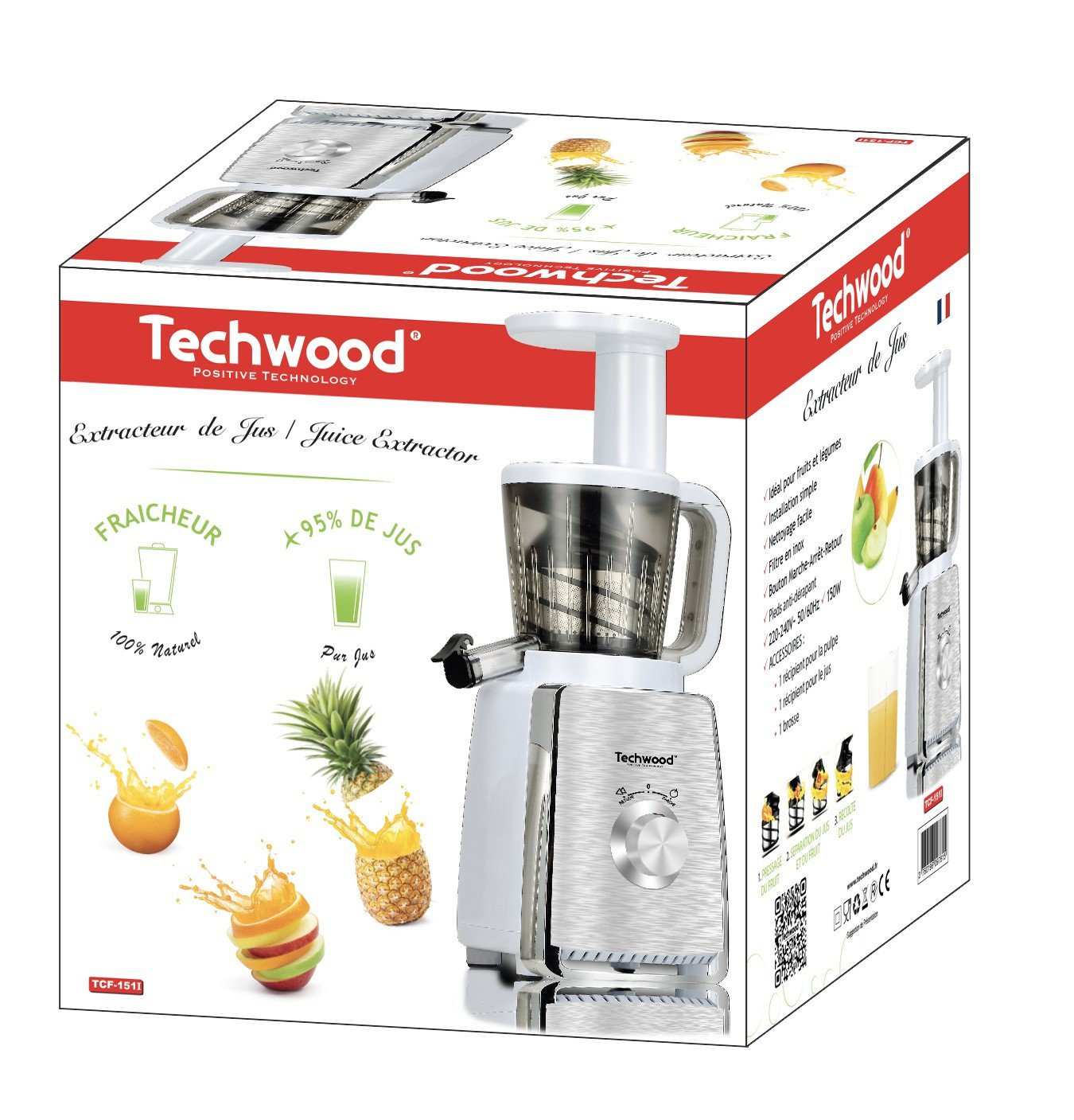 Techwood extractor de zumo: Amazon.es: Hogar