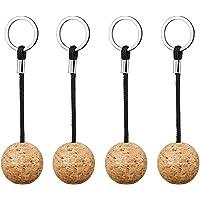 4 st flytande kork nyckelringar, flytande nyckelring nyckelring, kanot nyckel flytande, flytande kork boll nyckelring…