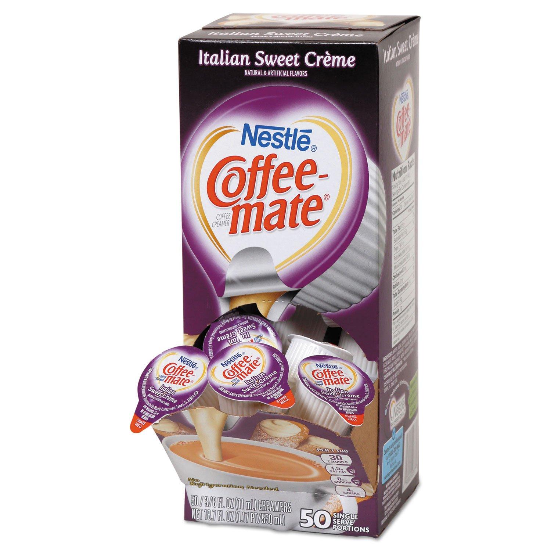 Coffee-mate 84652CT Liquid Coffee Creamer Italian Sweet Creme 0.375oz Mini Cups 50/Bx 4 Box/Ctn