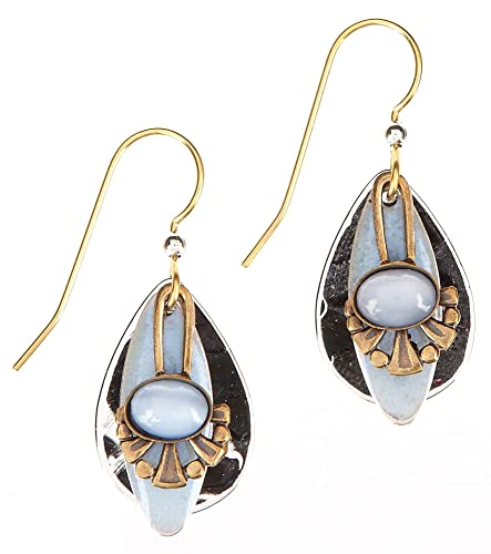 4b9796da6 Image Unavailable. Image not available for. Color: Silver Forest  Pearlescent Teardrop Earrings NE-200