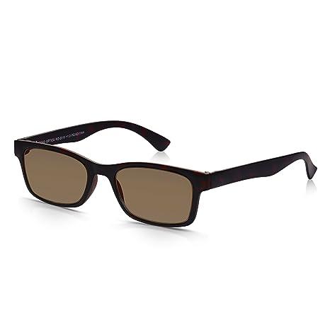 Read Optics Gafas de Sol de Lectura: Lentes Graduadas +1.50 Dioptrías con Protección Rayguard™ UV-400 100% | Marco Marrón Tortoise de Policarbonato | ...