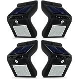 Reachope Lampe Solaire Jardin 16 LED 4 Pack - Lampe Extérieur Etanche sans Fil Détecteur de Mouvement 120° Grand Angle pour Jardin, Terrasse, Patio, Cour, Balcon, Garage, Véranda, Clôture, Allée, Escalier, etc