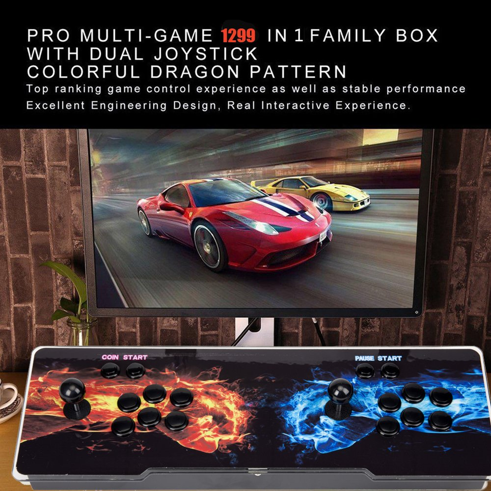 1299 in 1 Video Games LED Double Stick Arcade Console Pandora's Box 5s Classic by STLY (Image #3)