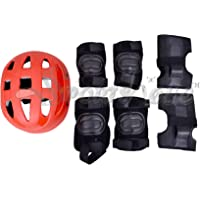 Skating Knee Elbow Wrist and Helmet Protective kit for Skates cy Cling for Kids Boys Girls Aged 5 to 10 Years