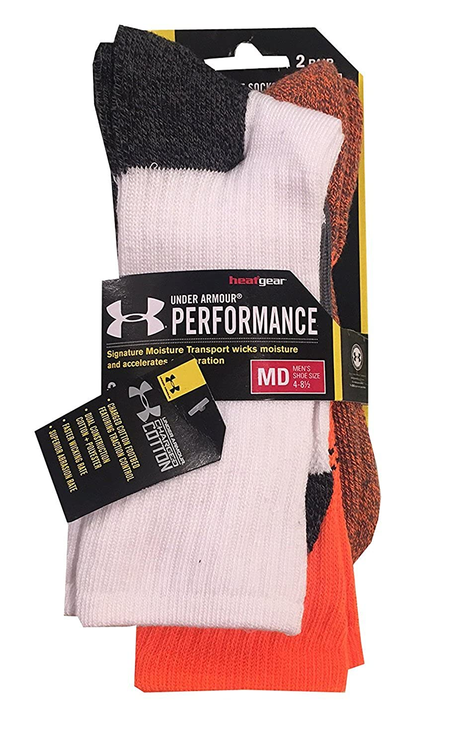 Under Amour Men UA Performance Charged Cotton Socks 2-Pack