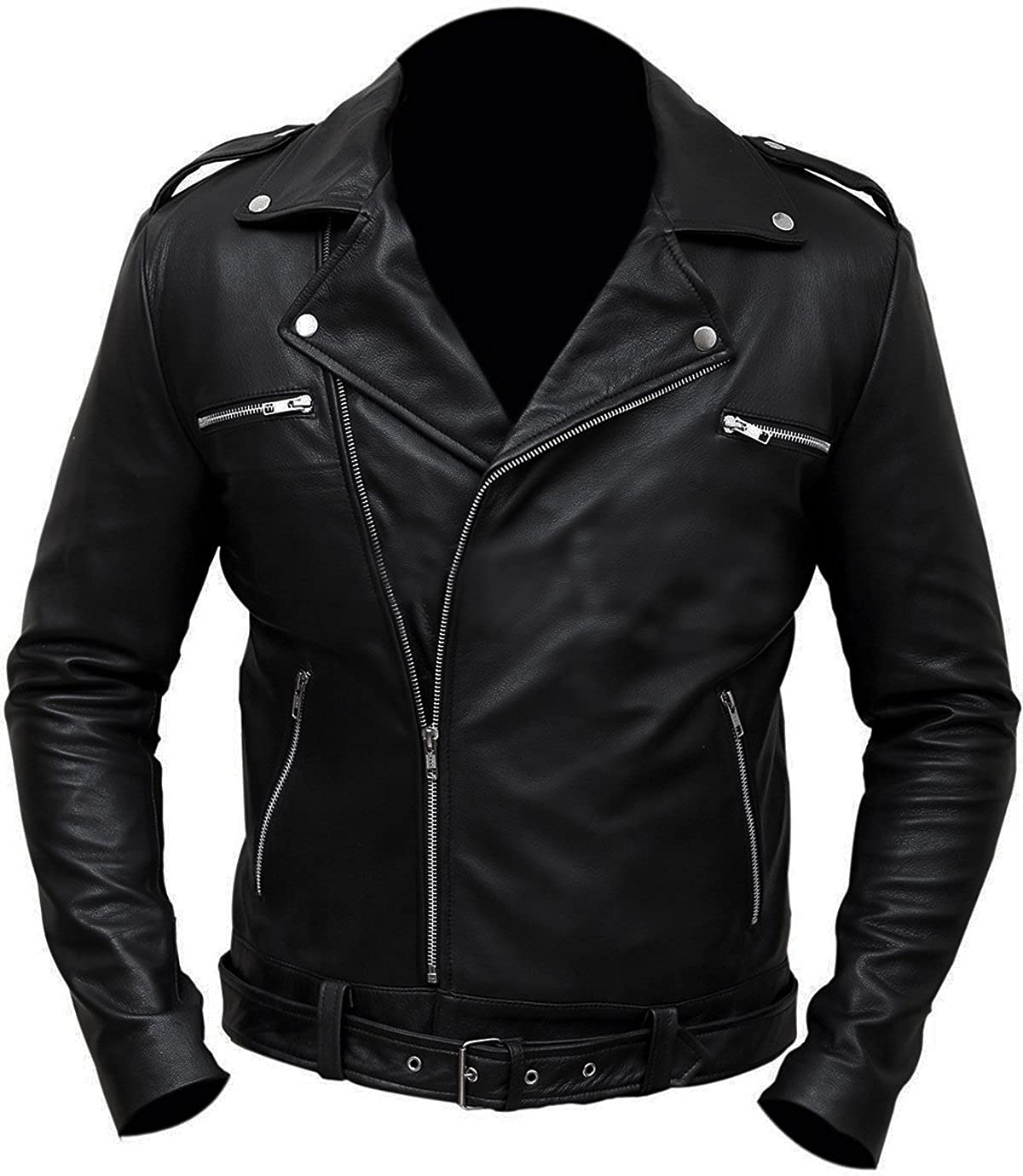 Negan The Walking Dead Stylish Saviors Jeffrey Dean Morgan Faux Leather Jacket