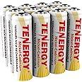 Tenergy AA Rechargeable Battery NiCd 1000mAh 1.2V Battery Pack for Solar Lights, Garden Lights, 12-Pack