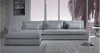 Amazon.com: Light Grey Fabric Sectional Sofa: Kitchen & Dining
