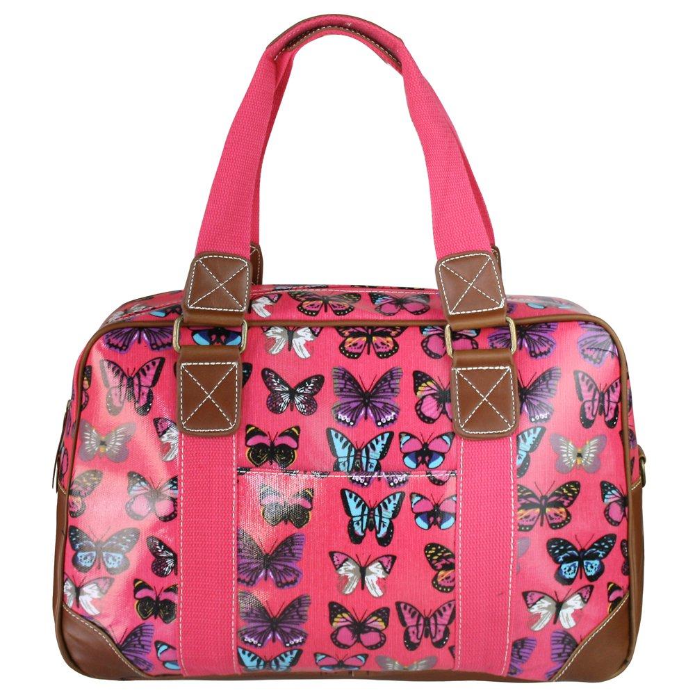 Miss Lulu Chouette Motif Floral en forme de Papillon en toile cirée à pois-Fourniture Scolaire-Sac de voyage week-end
