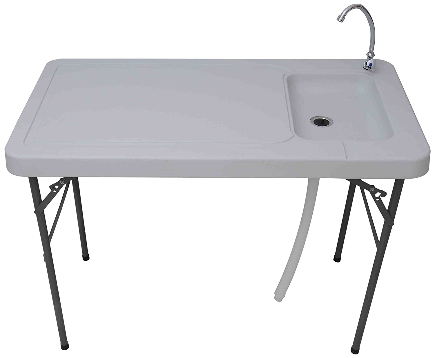 Coleman fish cleaning table re camping sink - Palm Springs Outdoor Folding Portable Fish Filet And Hunting Table With Sink White 6 Inch Amazon Ca Sports Outdoors