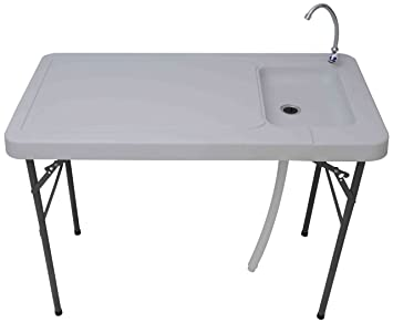 Palm Springs Outdoor Folding Portable Fish Filet Hunting Table With Sink 45quot