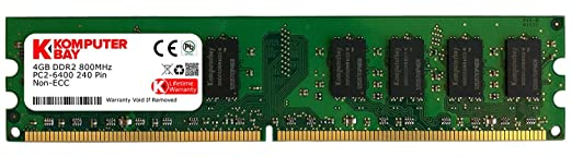 1094 opinioni per Komputerbay 4GB DDR2 DIMM (240 PIN) 800Mhz PC2 6400 PC2 6300 4 GB- CL 5