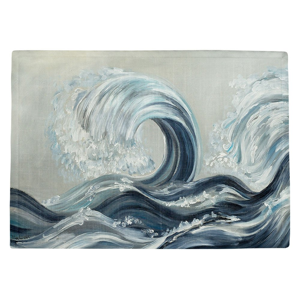 DIANOCHEキッチンPlaceマットby Artist Lam Fuk Tim – Wave Rolling L Set of 4 Placemats PM-LamFukTimWaveRollingl2 Set of 4 Placemats  B01N06K6QU