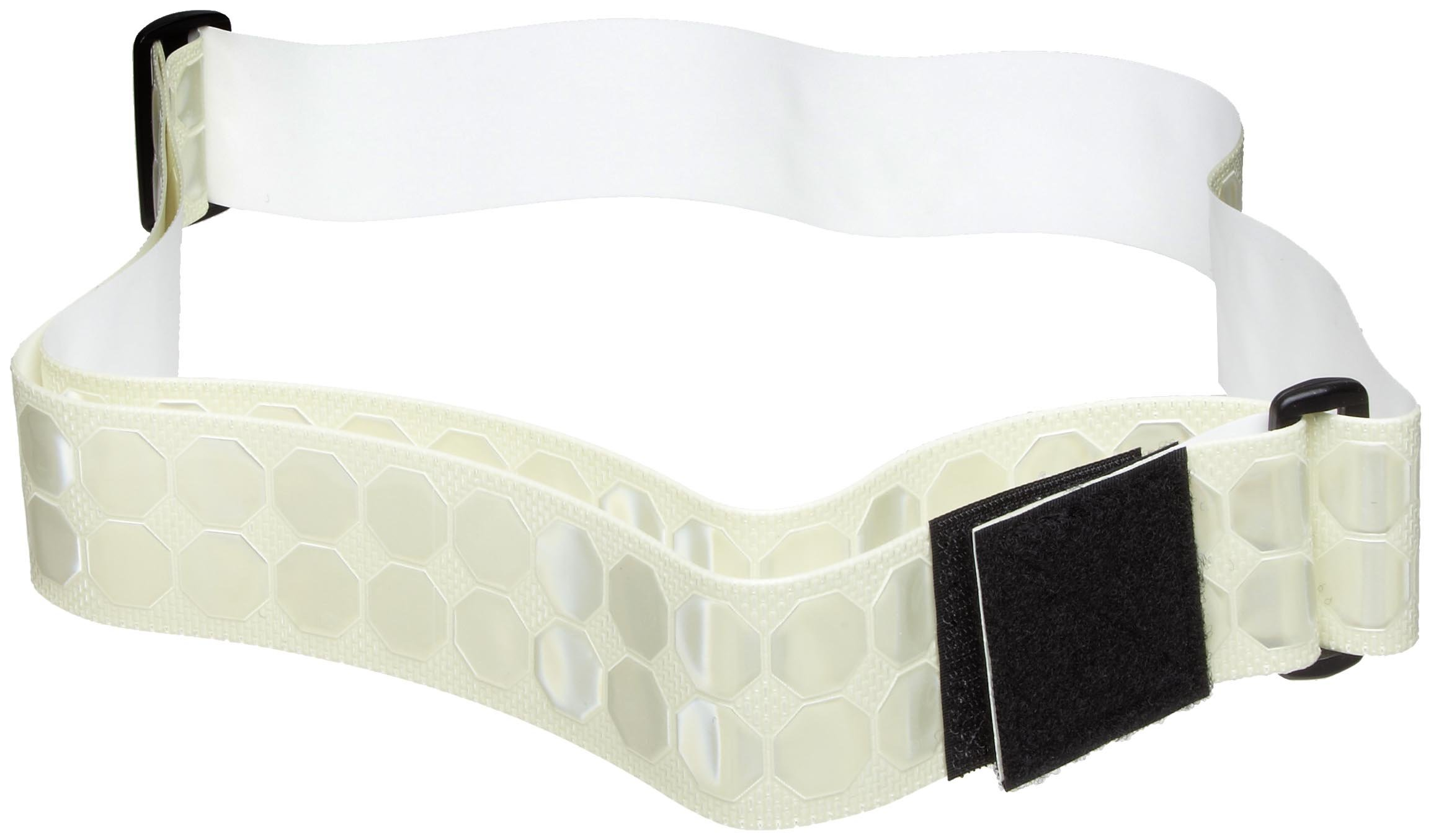 Cyalume Cyflect Photoluminescent Reflective PT Belt, Perfect for Running, Military Issued - 2'' W x 5-1/2' L (White)