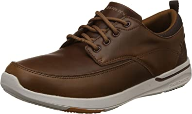 Globo Montgomery Inclinado  Skechers Chaussures de Ville en Cuir Marron Homme: Skechers: Amazon.fr:  Chaussures et Sacs