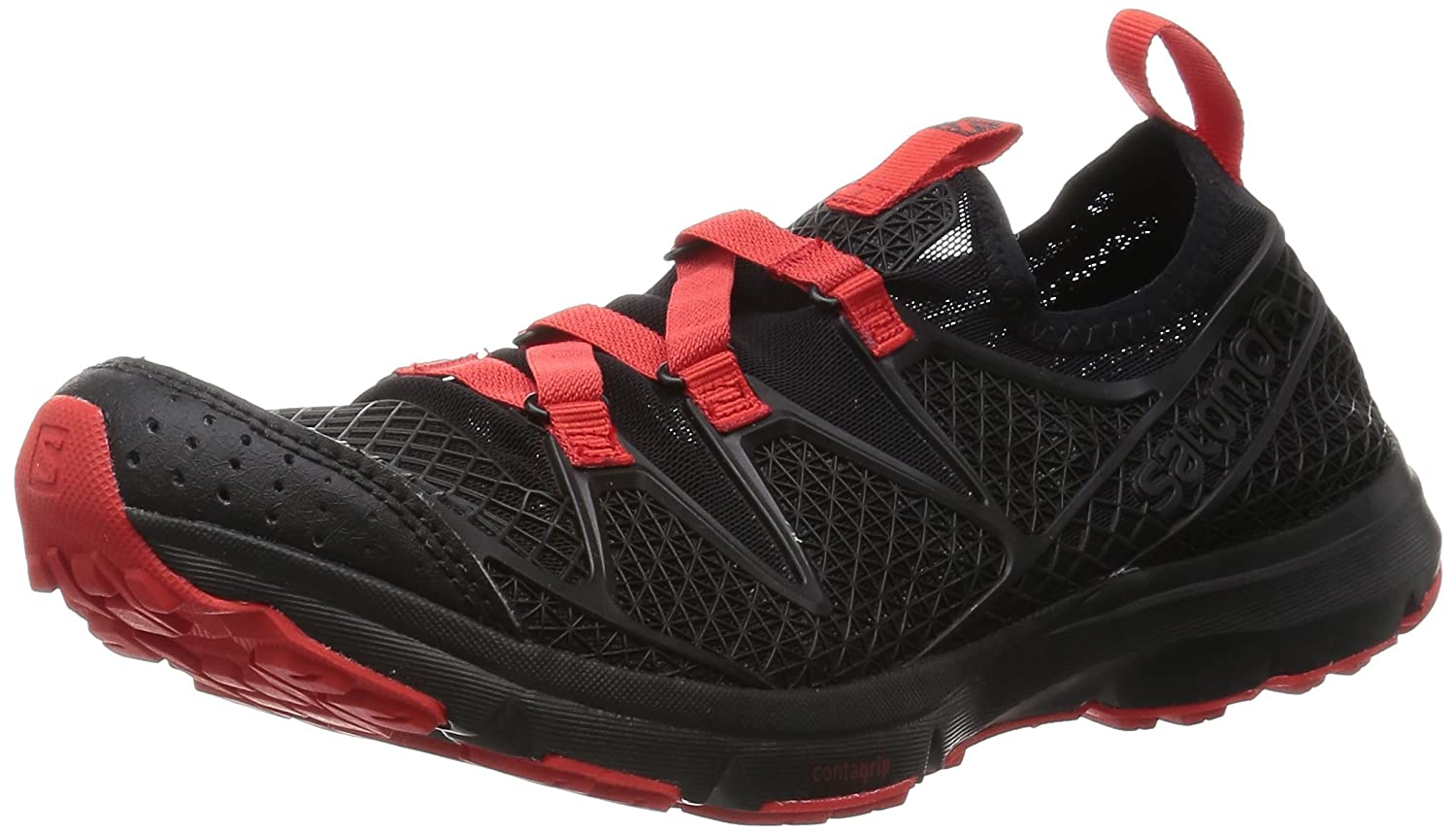 Salomon Crossamphibian, Zapatillas de Trail Running para Hombre 42 2/3 EU|Negro (Black/Black/Radiant Red)