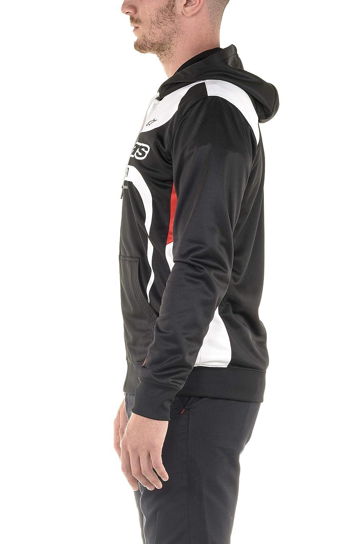Alpinestars Mens Full Zip Hooded Sweatshirt Modern Fit 240 GSM Motorsports Poly Fleece