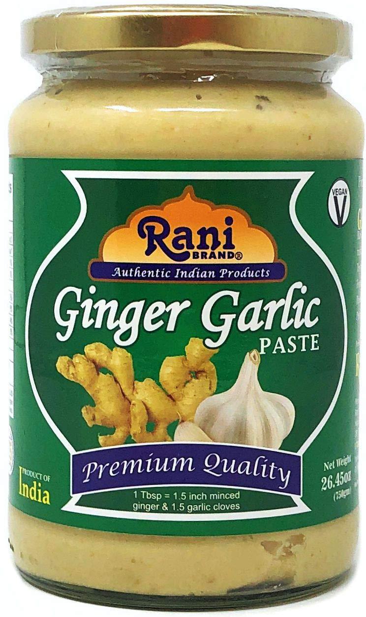 Rani Ginger Garlic Cooking Paste 26.5oz (750g) ~ Vegan | Glass Jar | Gluten Free | NON-GMO | No Colors | Indian Origin …