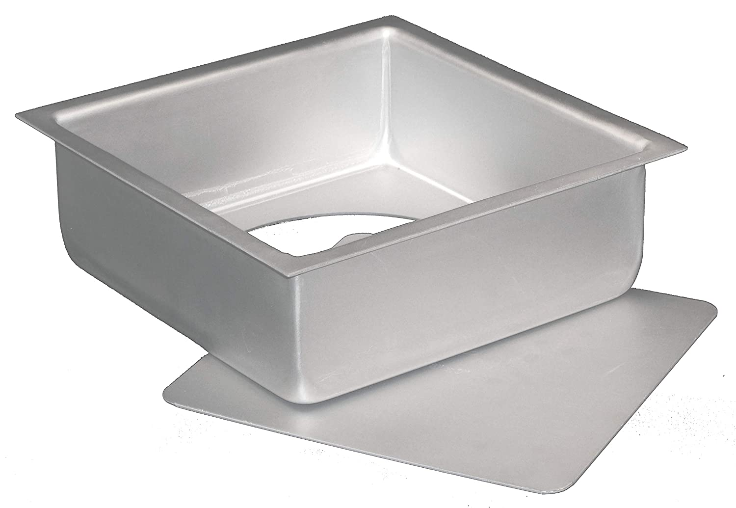 Fat Daddio's Anodized Aluminum Square Cheesecake Pan with Removable Bottom, 6 Inch x 6 Inch x 3 Inch Fat Daddio' s PSQCC-663