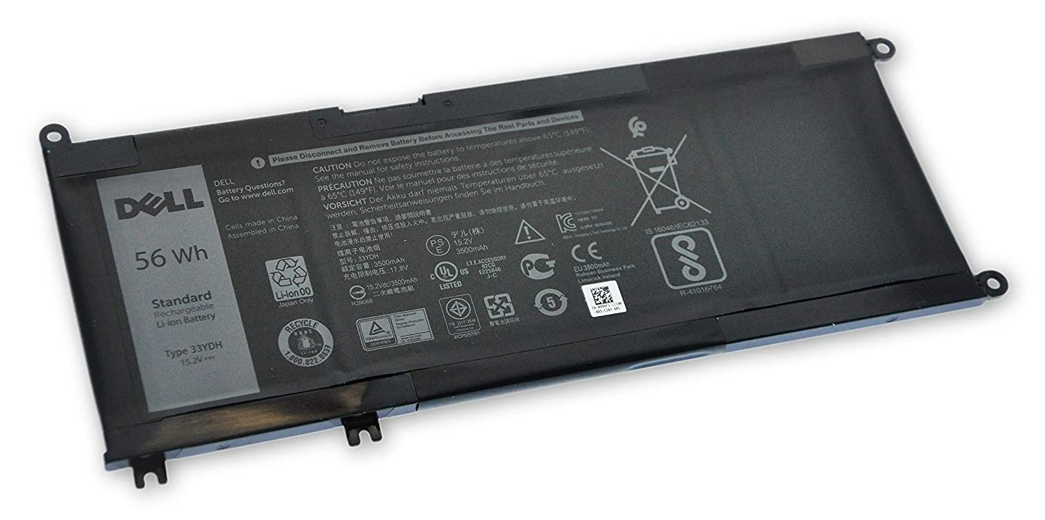 Dell Inspiron 7559 7570 7573 7577 7773 7778 7779, Latitude 56Wh 3590 3580 3480, Vostro 7580 56Wh Latitude 4-Cell Primary Battery 99NF2 33YDH e9d107