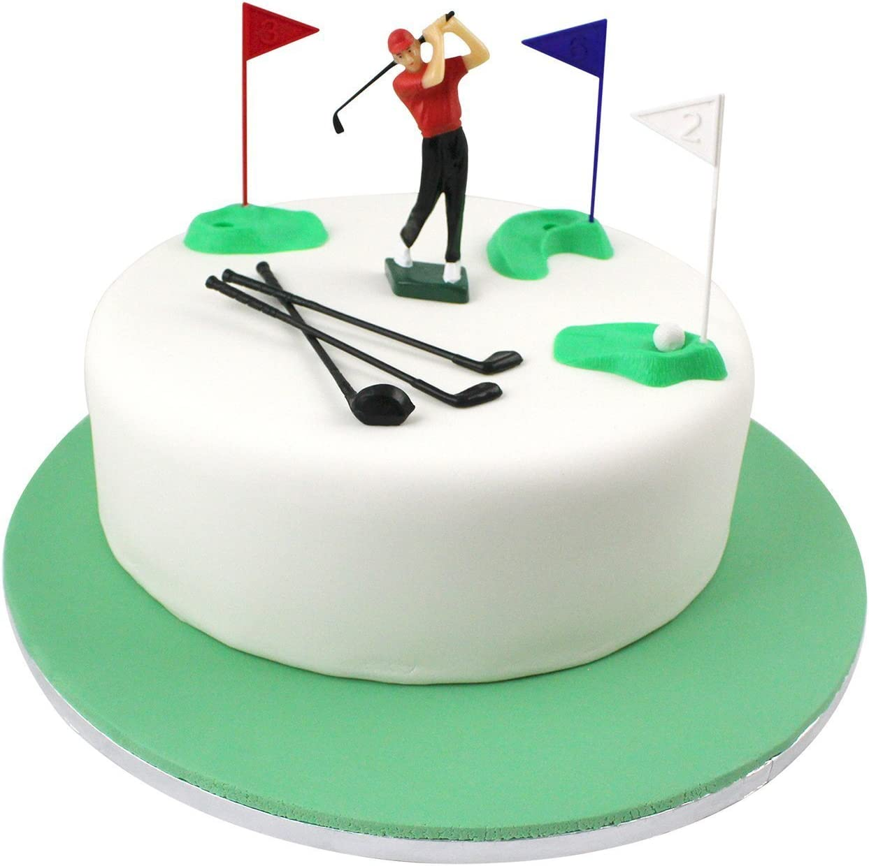 Admirable Amazon Com Pme Gs010 Set Cake Topper Golf Decorations Plastic Funny Birthday Cards Online Eattedamsfinfo