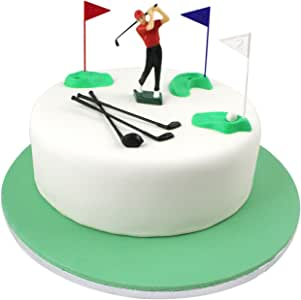 PME Set Cake Topper Golf Decorations/Plastic Figures, 13-Pieces, Green/Red/Blue/White/Black, Standard, Multicolor