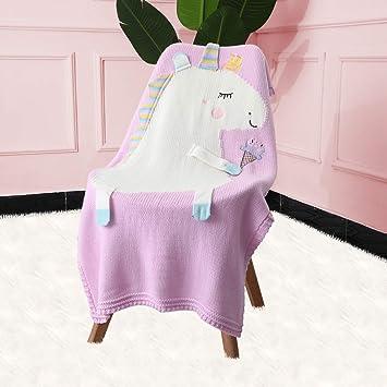 Amazon.com: Xiaowli - Manta de punto de unicornio para bebé ...