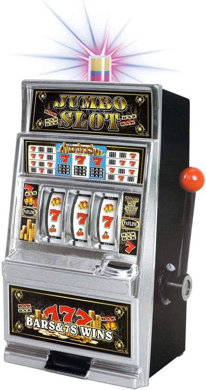 Amazon.com: Liberty Imports Lucky Sevens Jumbo Slot Machine Casino Toy  Piggy Bank Replica with Flashing Lights and Jackpot Sounds: Toys & Games