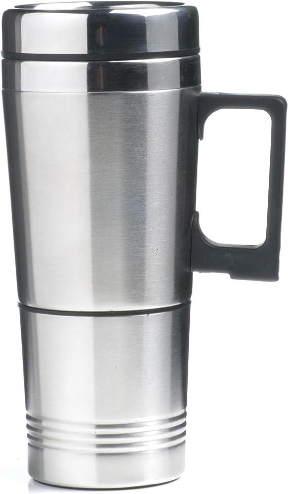 Móvil de 24 V de eléctrico de taza térmica de acero inoxidable 0,5 litros para camiones, camping, barcos, caravanas, etc.: Amazon.es: Hogar