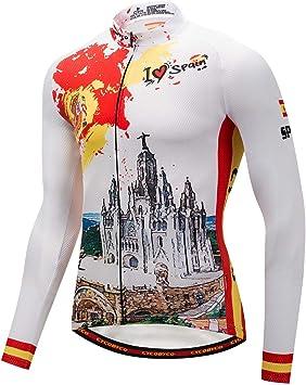 CYCOBYCO Hombres Chaqueta de Ciclismo Ropa Invierno Térmico Respirable Cómodo Manga Larga Maillots (España Chaquetas, M): Amazon.es: Deportes y aire libre