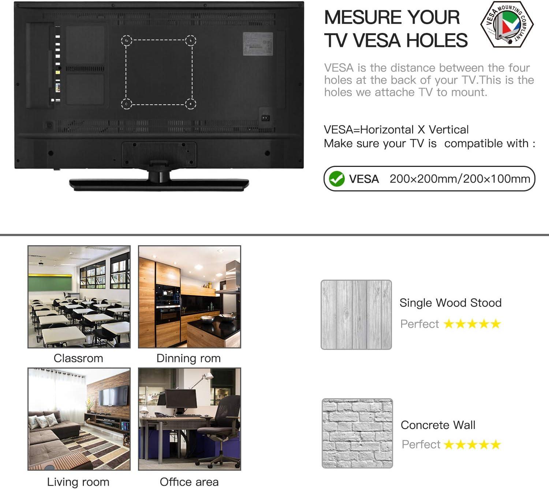 Soporte de Pared para TV, Base giratoria e inclinable Gira el Soporte de Pared para TV para televisores de 10 a 40 Pulgadas de hasta 20 kg, VESA máximo 200X200 mm: Amazon.es: Electrónica