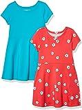 Amazon Essentials Girl's 2-Pack Short-Sleeve Skater Dress