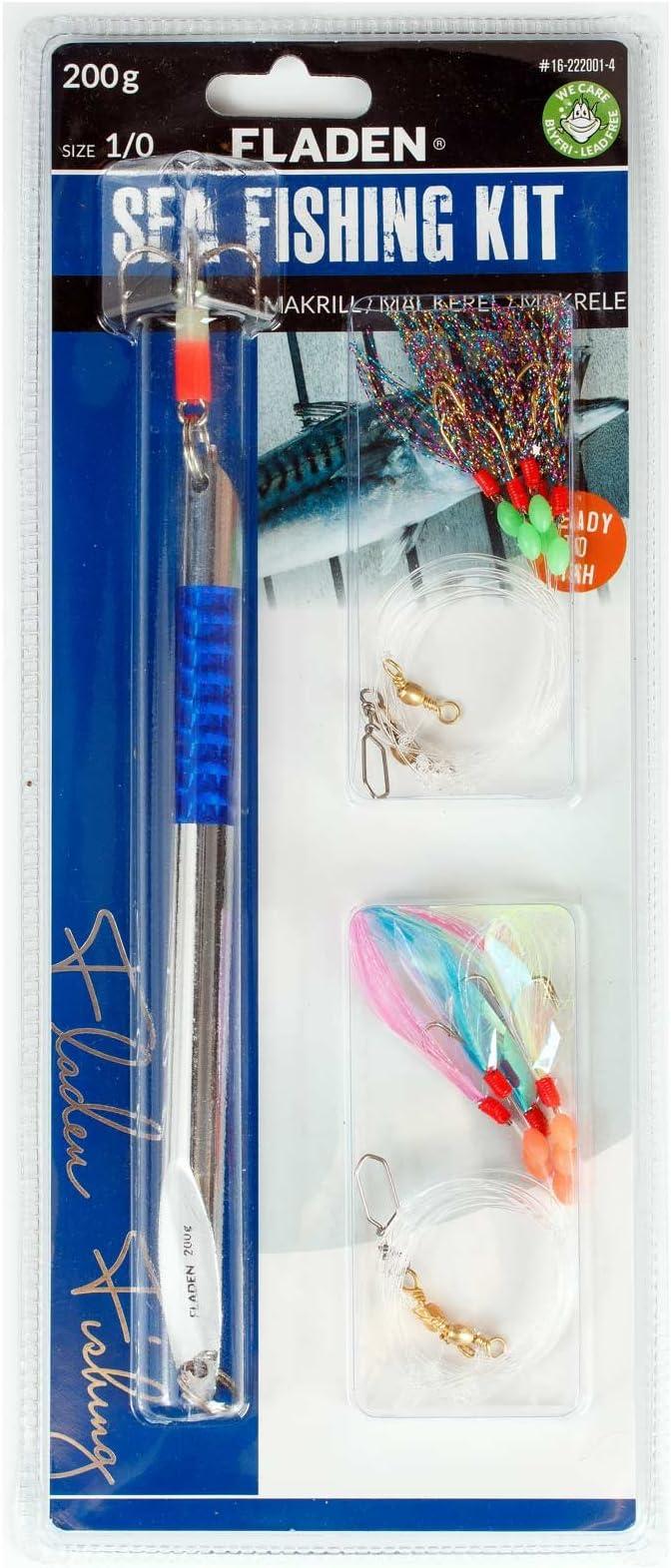 Fladen - Señuelo de Pesca (200 g, 2 Aparejos de atracción), Blue ...