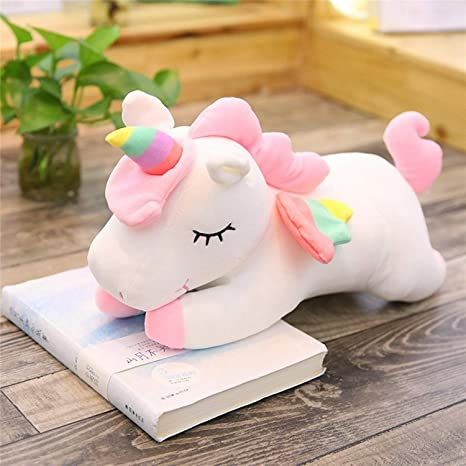 JEWH Lying Unicorn Stuffed Dolls - Kawaii Soft Animal Unicorn - Plush Toys for Children -
