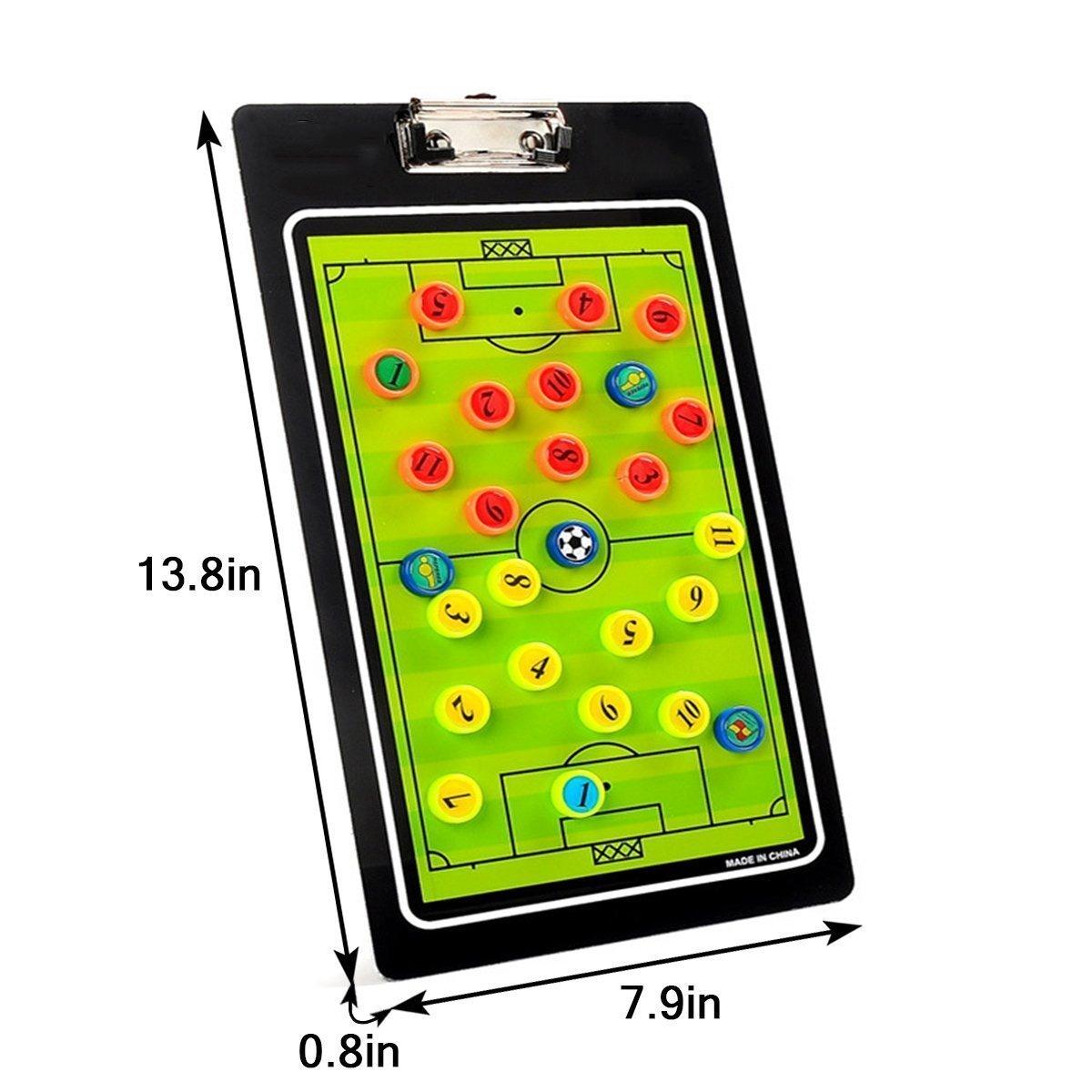 HUYUHAN Tabla magnética de entrenamiento con marcador y borrador, para baloncesto profesional, entrenador de fútbol y baloncesto escolar, entrenador ...
