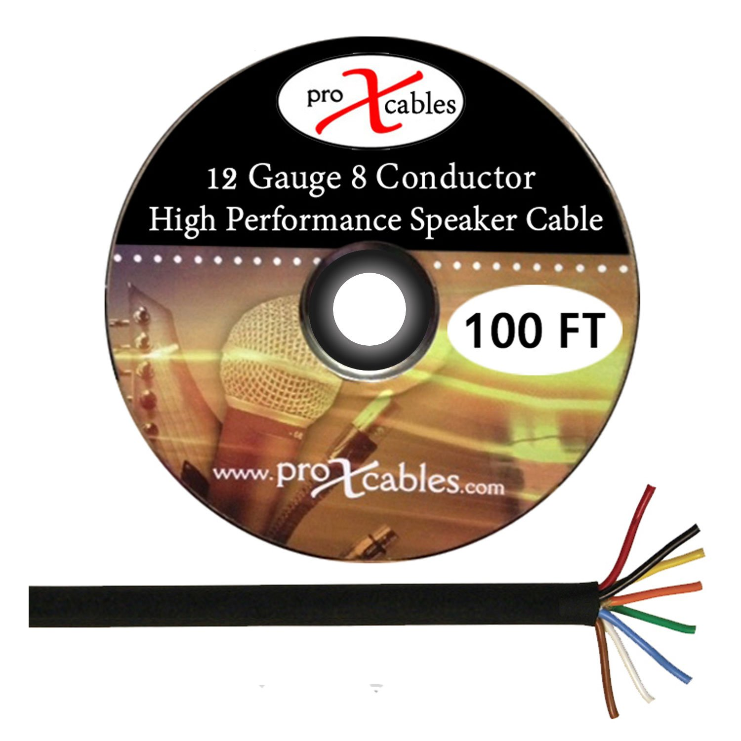 ProX Cables XC-8 COND-100FT - 12 Gauge 8 Conductor High Performance Cable 100 Ft. Roll