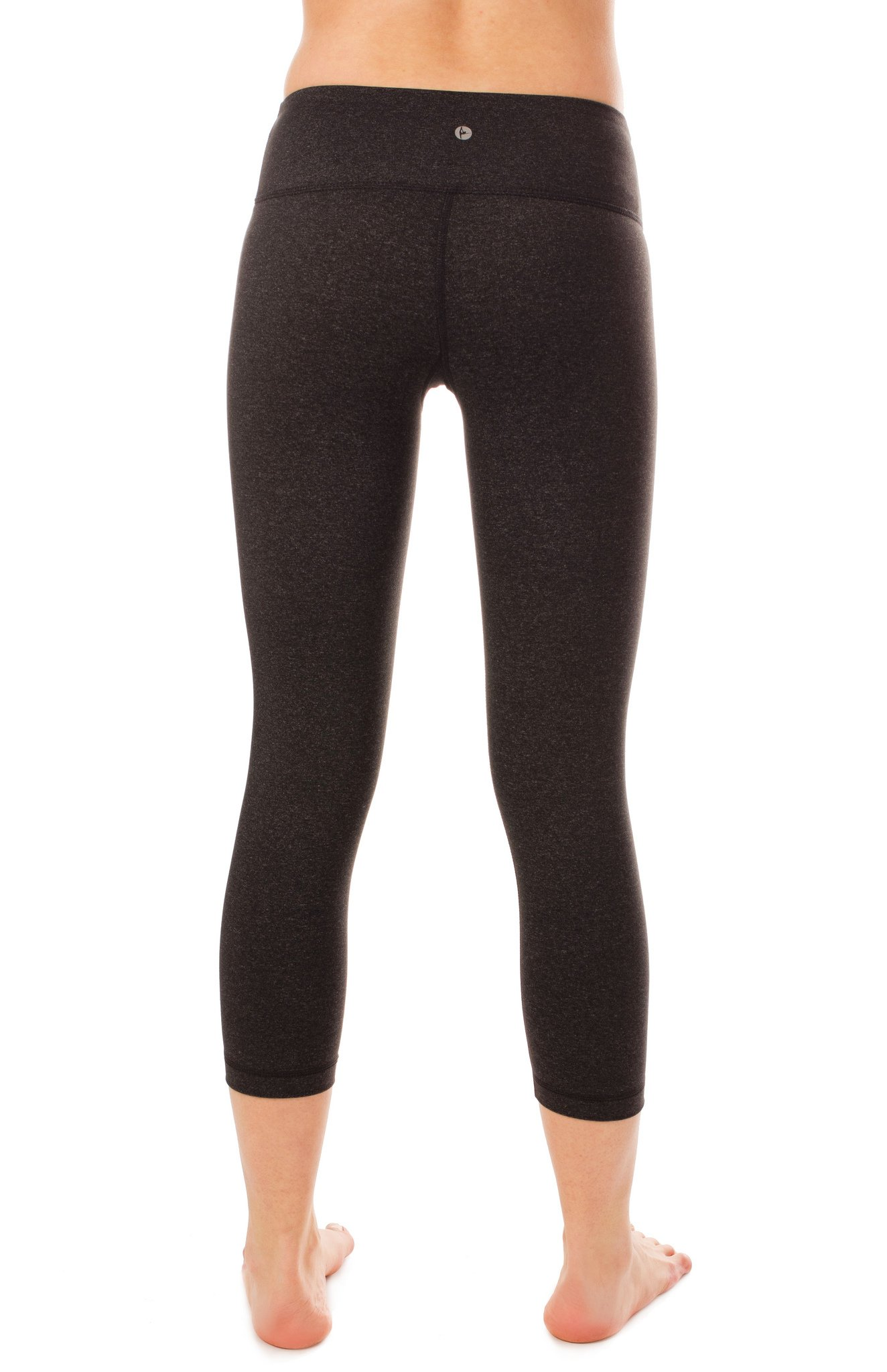 90 Degree By Reflex – Power Flex Yoga Capri – Cationic Heather Activewear Pants - Heather Charcoal XS by 90 Degree By Reflex (Image #4)