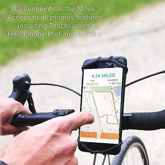 TOOGOO Cuna de Manillar para Todos Los Teléfonos Y Bicicletas. Plantilla para Motocicletas de Carretera Y La Manija de La Bicicleta de Monta?a para iPhone ...