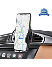 IZUKU Support Telephone Voiture Ventilation Support Voiture Universel avec Rotation 360° pour iPhone X/8/7/6s/6/SE/5,Samsung Galaxy S8/S7/A5/Note8, Smartphone et GPS Appareils