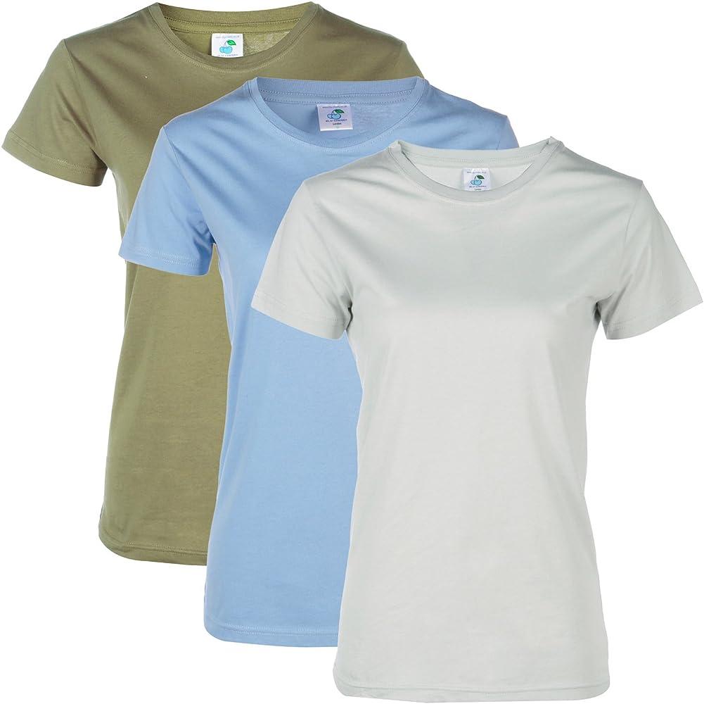 Camiseta básica BLU Cherry, paquete de 3 o 6 unidades, para mujer ...