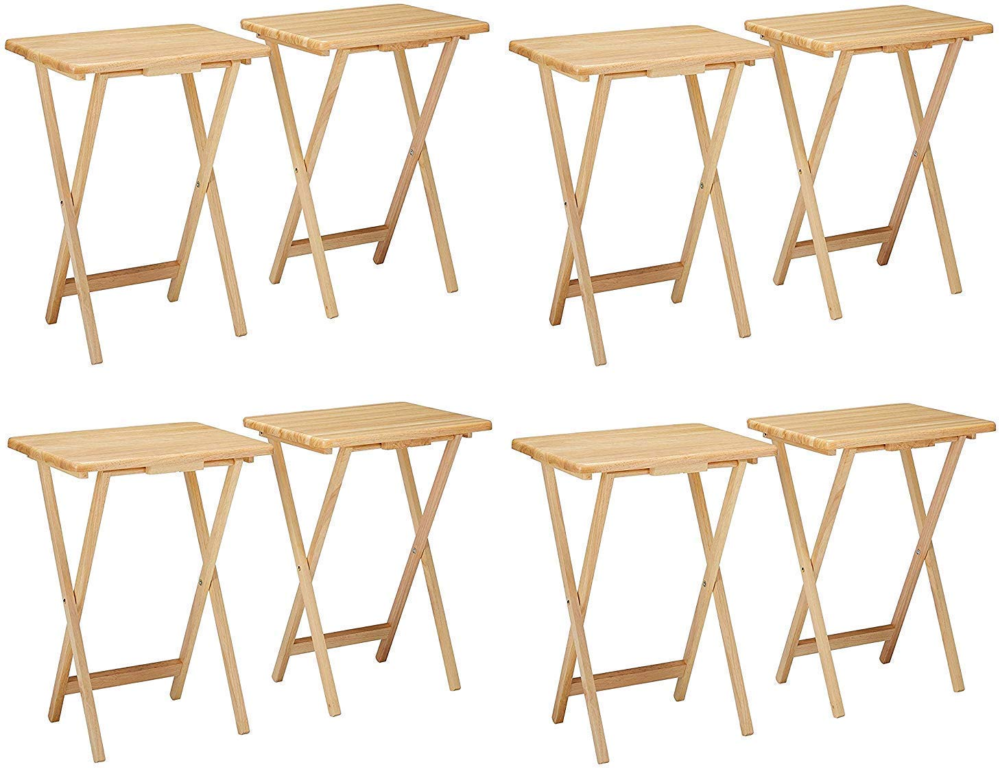 Winsome 42290 Alex Set TV Table, Natural (4 X Pack of 2) by Winsome