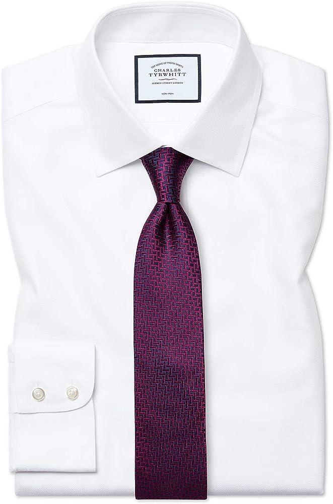 Camisa sin Plancha Blanca de Tela Royal Panama y Corte clásico sin Plancha: Amazon.es: Ropa y accesorios