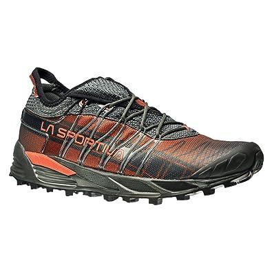 La Sportiva Men's Mutant Backcountry Trail Running Shoe, Carbon/Flame, 38.5  M EU