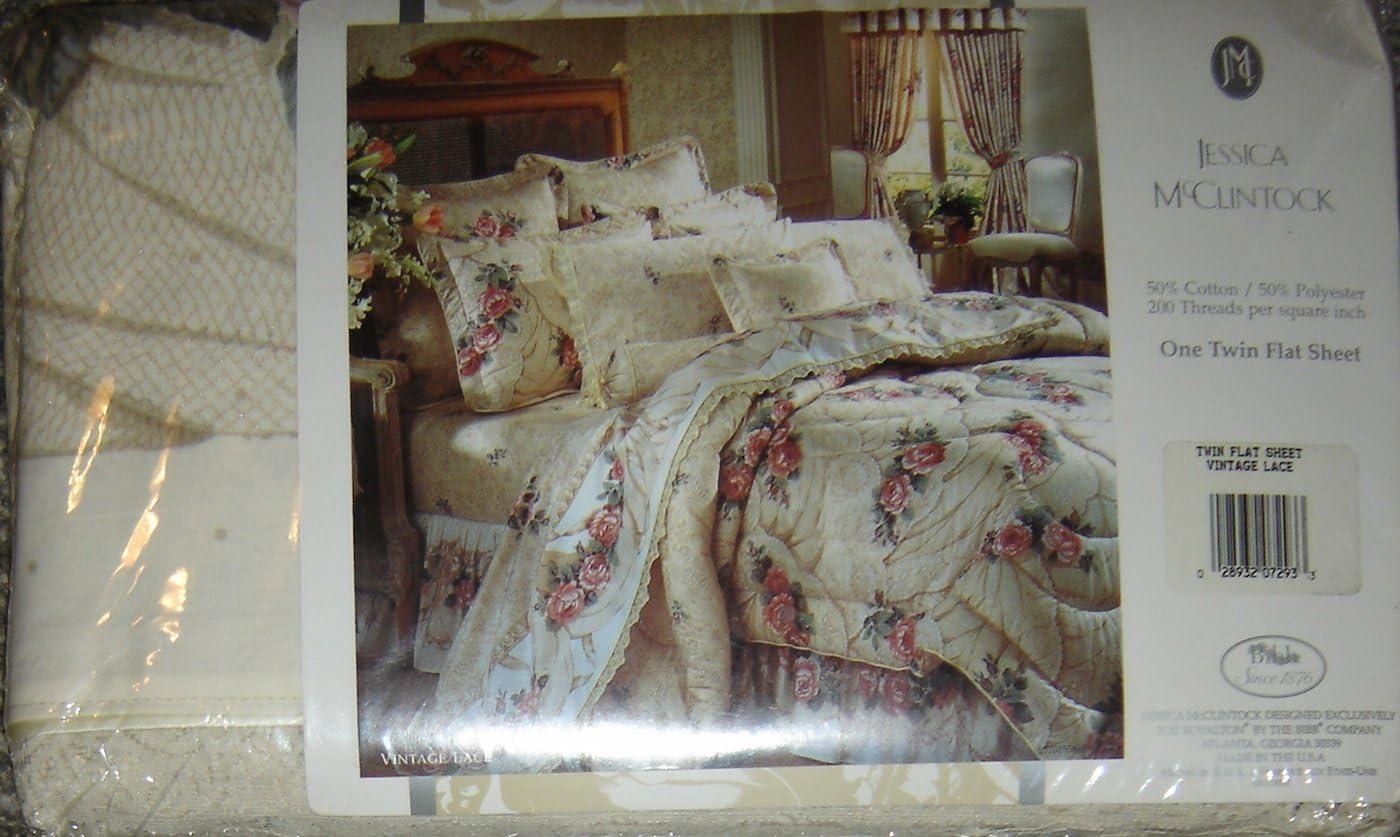 Jessica McClintock Twin Flat Sheet, Vintage Lace