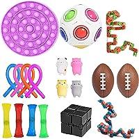 Set de juguetes sensoriales, con juguetes de malla, juguete de burbujas y bolas para apretar, ideales para aliviar el…