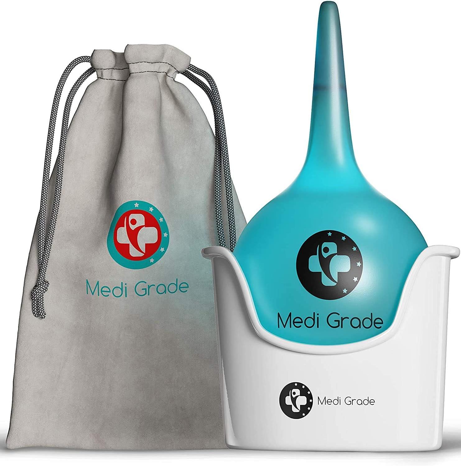 Kit de Limpieza de O/ídos de Gran Capacidad 200 ml Set para Limpiar O/ídos con Cubeta Incluida de Medi Grade Bulbo de Jeringa Grande para Eliminar Tapones de O/ídos