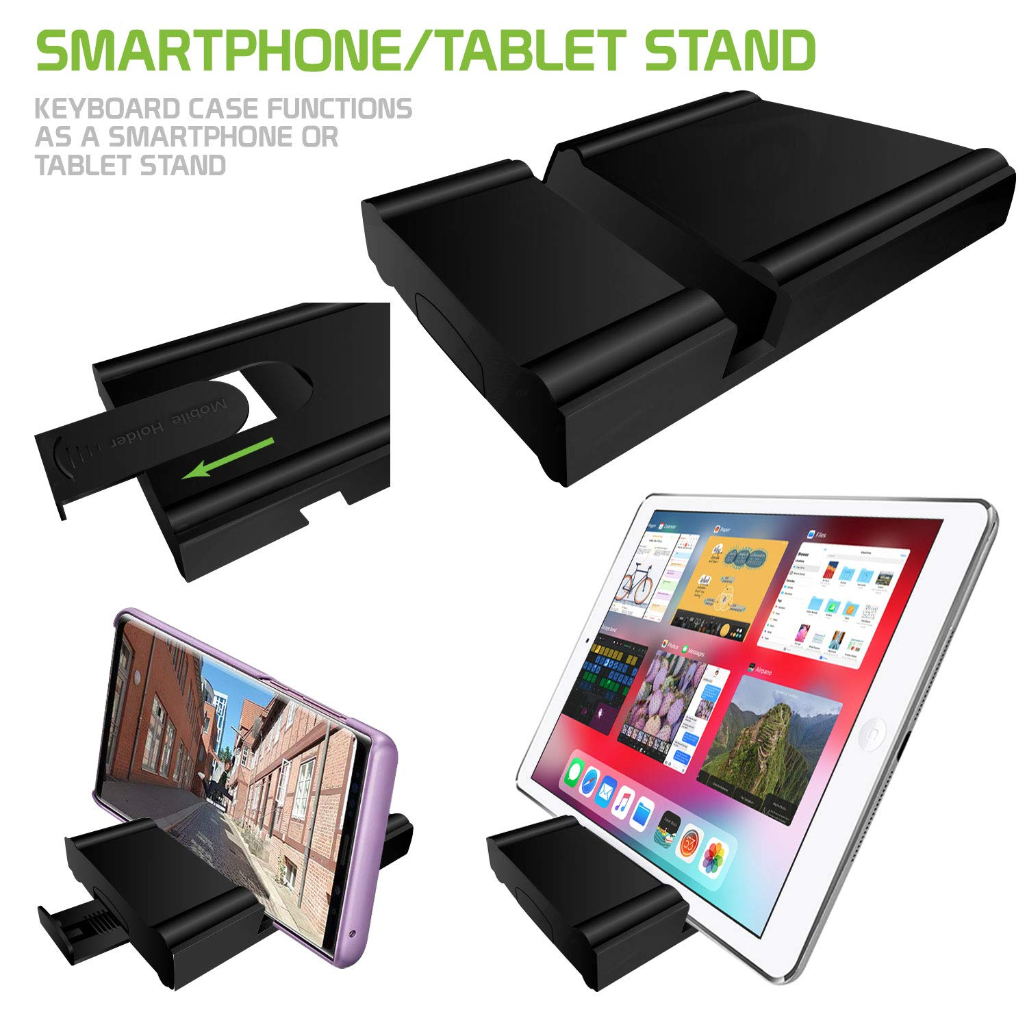 Cell-Stuff Wireless Folding Keyboard with Stand Compatible w/Moto G7 Power by Cell-stuff (Image #3)